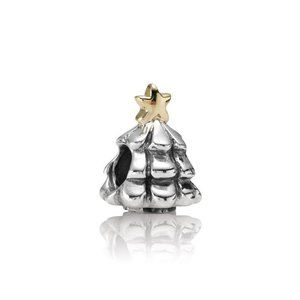 RETIRED! Pandora 2 Tone Christmas Tree Charm